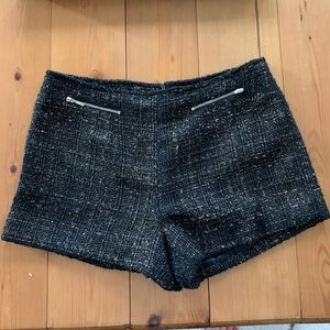 Sparkly tweed shorts